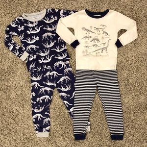 5/$25, 2 pairs of boys pajamas by Carter's, 2T